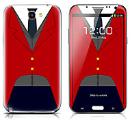 SX-059 Shirt Pattern Front and Back Protector Stickers for Samsung Note 2 N7100