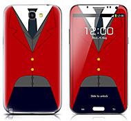 SX-059 Shirt Patrón frontal y traseras del protector Pegatinas para el Samsung Galaxy Note N7100 2