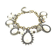 Copper Alloy Gem pulsera colgante antiguo de la vendimia
