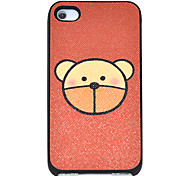 Cartoon Bear Pattern Hard Case for iPhone 4/4S