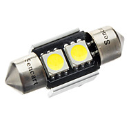 31mm 1W 2-LED 70-80LM 6000-6500K White Light Bulb for Car CANBUS (DC 12V)