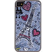 Romantic Tower Pattern Diamond Look Hard Case for iPhone 4/4S