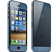 Demin Patrón Cuerpo Guardia de la piel para el iPhone 5