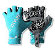 SPAKCT S13G03 Durable Polyester and Vinylal Materials Half Finger Gloves Design for Cycling Bicycle-Blue