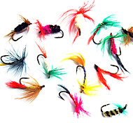Colorful Insect-Imitation Fishing Hooks with Fur(12 Pcs)