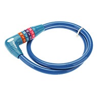 Universal 4-Digit Security Anti-Theft Plastic Bicycle Lock - Blue