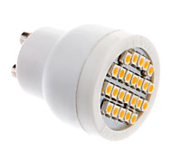 GU10 2W 24x3528SMD 70-100LM 3000-3500K Warm White LED Light Bulb Spot (85-265V)