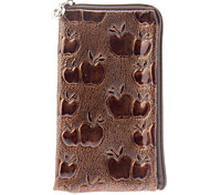 Quality Protective PU Leather Full Body Case with Strap for iPhone 4/4S (Brown)