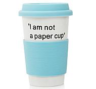 """381ML """"I am not a Paper Cup""""Ceramic Cup Mug(Blue)"""