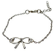 Bow Metal with White K Bracelet