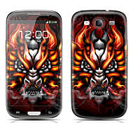 Monster Head Pattern Front and Back Protector Stickers for Samsung Galaxy S3 I9300