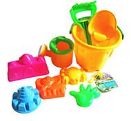 9PCS filhos de brinquedos de praia (cor aleatória)