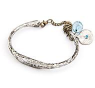 Vintage Antique Silver Alloy Opening Bracelet