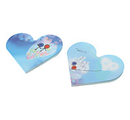 Heart Shaped Colorful Paper Notepad (Random Color)