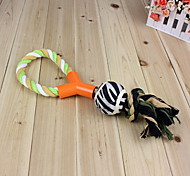Dog Toy Pet Toys Chew Toy Rope / Woven Textile Multicolor