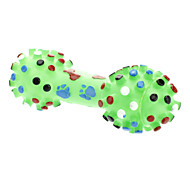 Large Footprint and Bone Pattern Rubber Squeaking Dumbbell Shape Toy for Dogs (Assorted Colors)