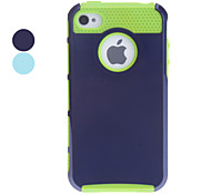 Double Shells Design Green TPU Inner Shell Hard Case for iPhone 4/4S (Assorted Colors)