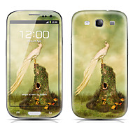 Bird Pattern Front and Back Protector Stickers for Samsung Galaxy S3 I9300
