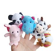 5PCS Forest Animal Plush Finger Puppets Kids Talk Prop(Random Types)