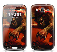 Monster Warrior Pattern Front and Back Protector Stickers for Samsung Galaxy S3 I9300