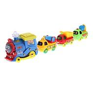 4-en-1 style de bande dessinée jouet en plastique coloré de camions (3 piles AA)
