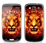 Fierce Lion Pattern Front and Back Protector Stickers for Samsung Galaxy S3 I9300