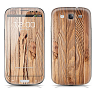 Board Pattern Front and Back Protector Stickers for Samsung Galaxy S3 I9300