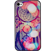 Psychedelic World Coloured Drawing Pattern Black Frame PC Hard Case for iPhone 4/4S