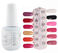 YeManNvYou®1PCS Sequins UV Color Gel Nail Polish No.73-84 Soak-off(15ml,Assorted Colors)