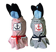Sailing Stripes Pattern Dress for Dogs (Assorted Colors, XS-XL)