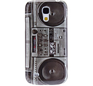 Retro Style Radio Pattern Hard Case and Screen Protector for Samsung Galaxy S4 mini I9190