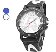 Unisex Casual Style Quartz Silicone Analog Wrist Watch (Assorted Colors)