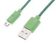 USB 2.0 macho para Micro USB Macho Cabo de Dados Verde Chapada Net (1m)