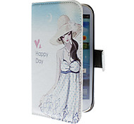 Summer Girl Pattern PU Leather Case for Samsung Galaxy S3 I9300