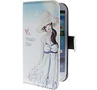 Sommer-Mädchen-Muster PU-Leder Tasche für Samsung Galaxy S3 I9300