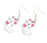 Silver Plated Alloy Cartoon Cat Pattern Earrings