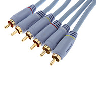 3xRCA Composite Male to Male Audio Cable (10M)