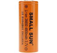 Piccolo sole 26650 3.7V 4800mAh batterie ricaricabili Li-ion
