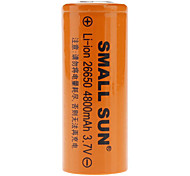 Pequeño sol 26650 3.7V 4800mAh baterías recargables Li-ion