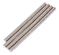 3 x 1mm NdFeB Neodymium Magnet Circular Cylinder DIY Puzzle Set - Silver (200 PCS)