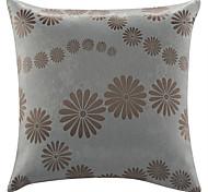 "18 ""Quadrat Chenille Floral Polyester Dekorative Kissenbezug"