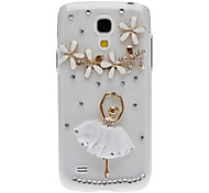 Bling Bling Dancer Design Hard Case with Rhinestone for Samsung Galaxy S4 Mini I9190
