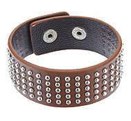 Z&X®  Multi-Rivet Leather Bracelet