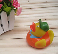 Vehicle Mechanic Duck Shaped Rubber Squeaking Toy for Pets Dogs