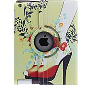 Colorful Peonías Patrón 360 grados giratoria cuero de la PU caso completo del cuerpo con el soporte para iPad 2/3/4