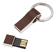 32GB PU Leather Surface Metal Keychain USB Flash Drive(Assorted Color)