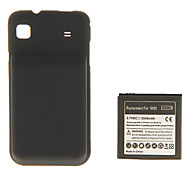 Black Hard Case with Battery for Samsung S I9000