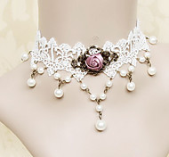 Lolita Jewelry Classic/Traditional Lolita Necklace Princess White / Fuschia Lolita Accessories Necklace Lace For Women Lace / Alloy