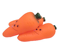 Carrot Shaped Rubber Squeaking Toy with Smiling Face for Pets Dogs