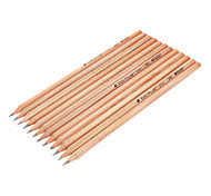 12pcs HB Black Ink Wooden Pencil
